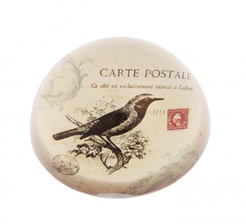 Briefbeschwerer vintage Postcard Bird