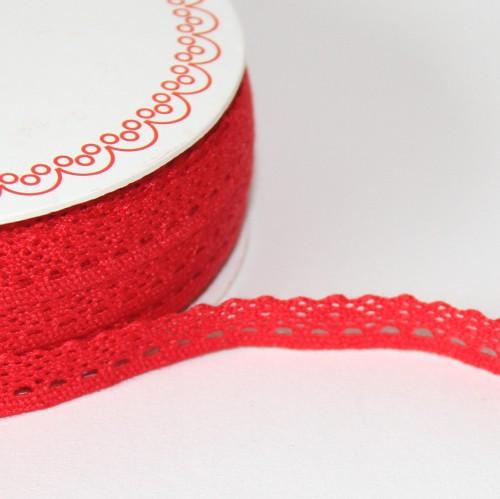 Spitzenband rot 10mm