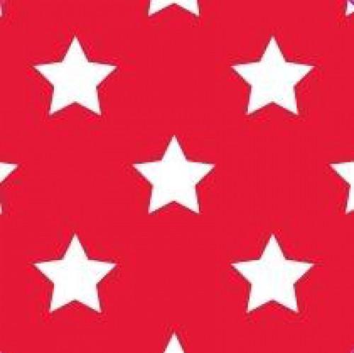 20 Bögen Seidenpapier rot mit weissen Sternen