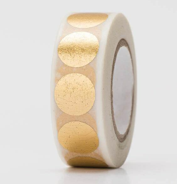 Masking Tape DOTS Punkte gold Hot Foil