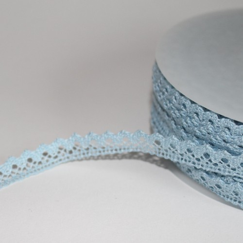 Spitzenband hellblau 10mm