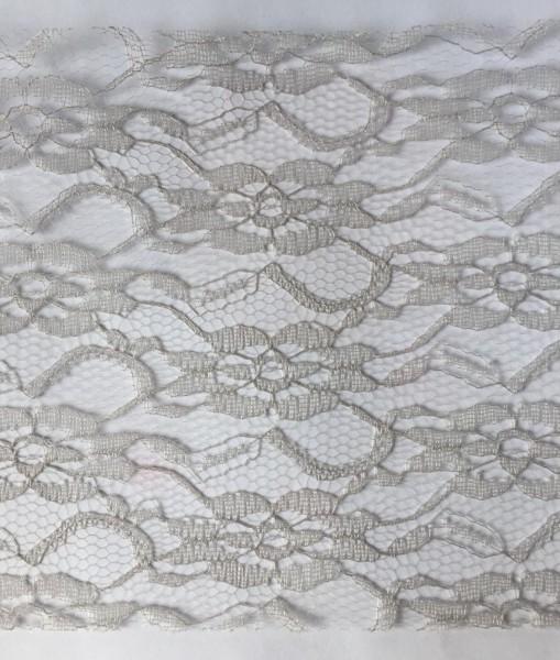 graue Spitze 15cm breit Tischband Lace