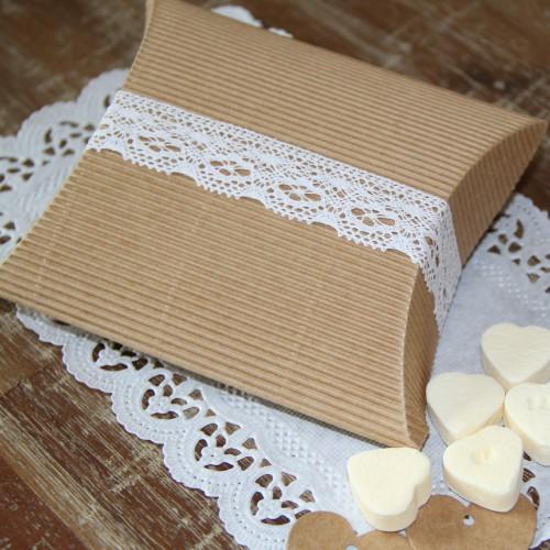 5 Stk. Schachtel Pillow Kraft Gr. M