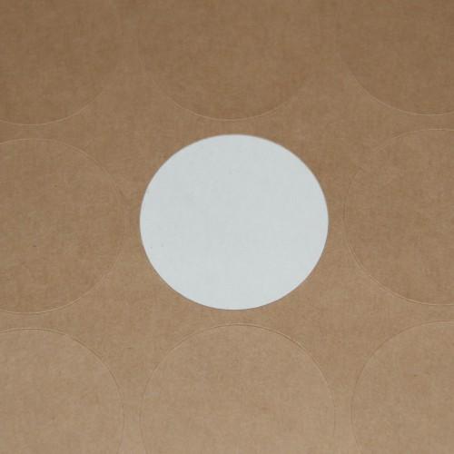 blanko A4 Bogen Kraftpapier braun Label 30 Stk rund