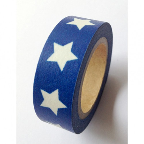 Masking Tape Stern blau