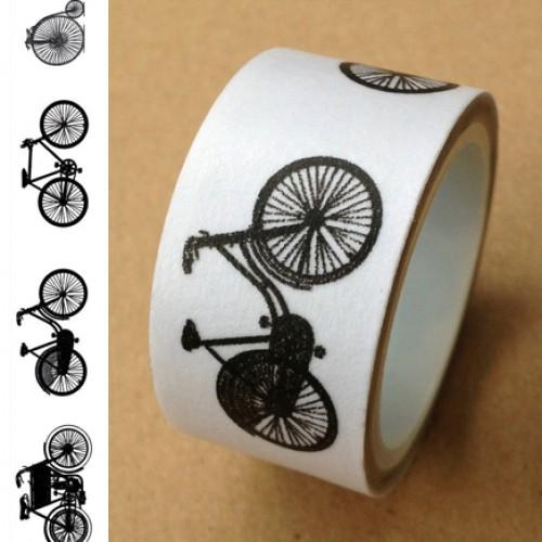 Masking Tape vintage bicycle schwarz/weiss