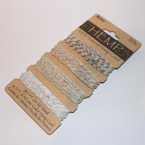 Garnkarte 4x6Meter Metallic-Garn Hanf