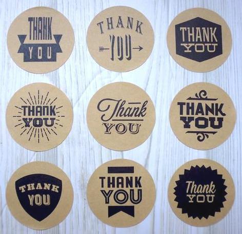 9 runde Sticker THANK YOU