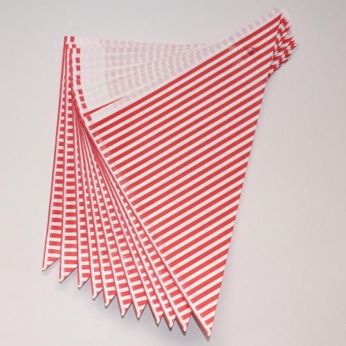 10 Spitztüten rot gestreift Streifen Gr. M