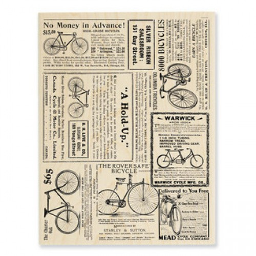 grosser Stempel Bicycle Background Nostalgie