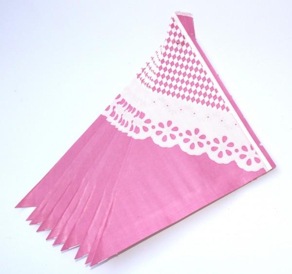 10 Spitztüten rosa Spitze Doilies Gr. M