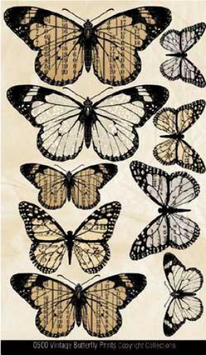 Vintage Butterflies Schmetterlinge