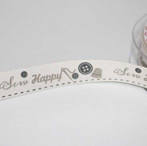Schleifenband SEW HAPPY Nähen Handarbeit 15mm
