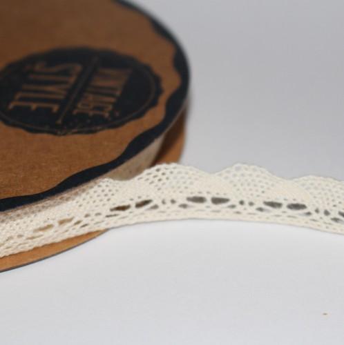 Spitzenband creme 12mm