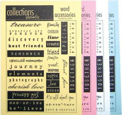 Word Accessories Bogen creme