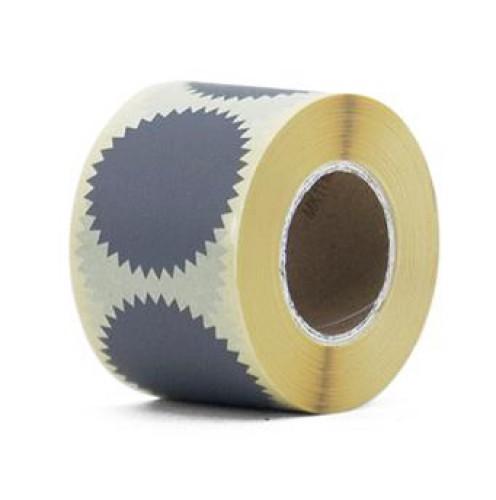 10 runde Sticker Zackenrand grau 50mm