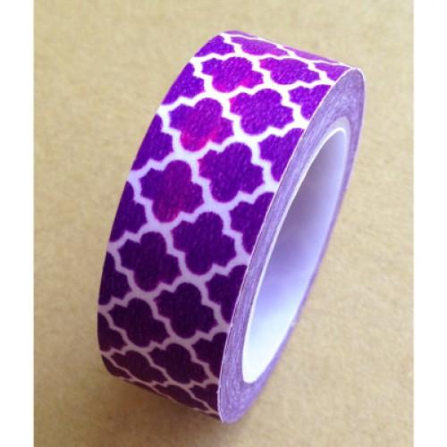 Masking Tape TILES FLOWER dunkel lila