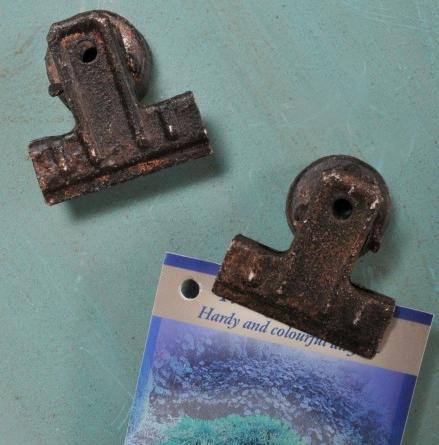 Dokumentenklammer Papierklammer Magnet schwarz rost factory