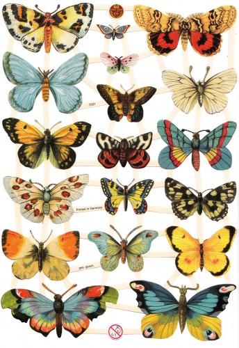 "Glanzbilder ""Schmetterlinge 3"" Bogen Oblaten"
