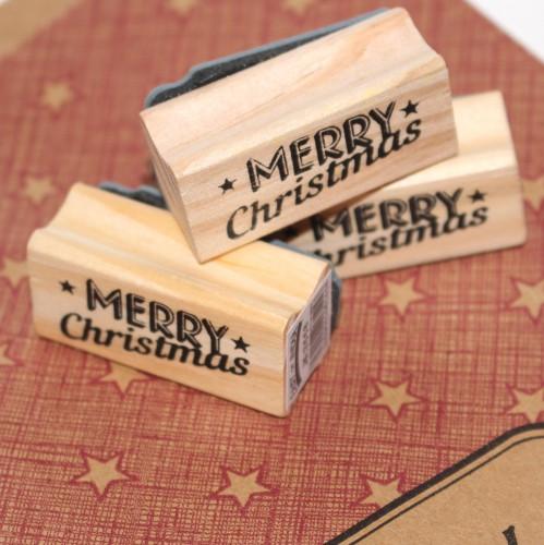 kleiner Stempel MERRY CHRISTMAS star