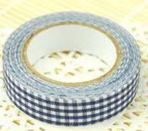 Rolle Fabric Tape Check blau weiss kariert