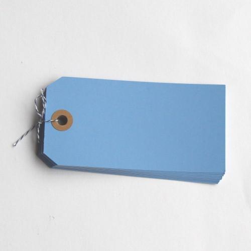 Paketanhänger hellblau 10 Stk groß