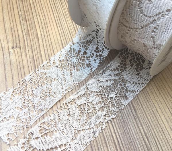 Spitze Florence sand 40mm randlos
