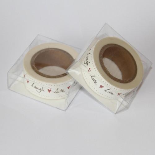 Papier-Klebeband Masking Tape live love laugh love