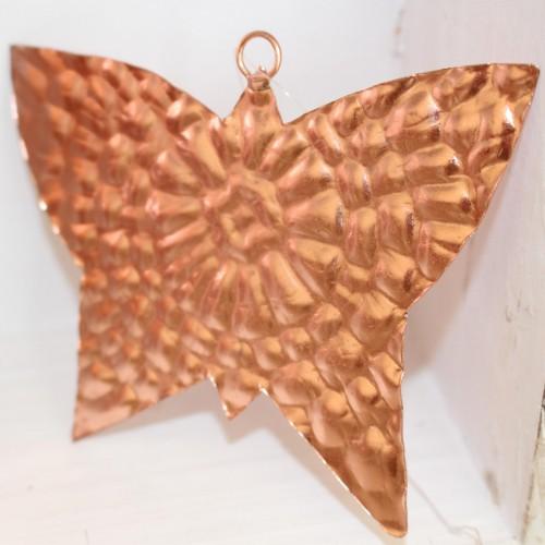 Schmetterling Metall Kupfer Dekohänger 12cm