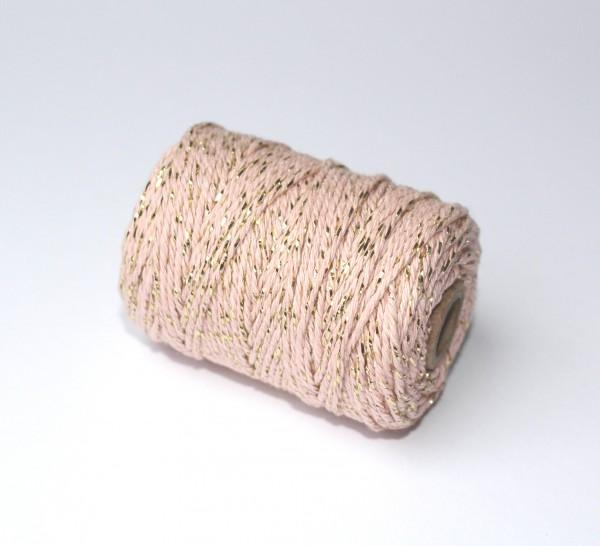 rosé gold Baumwollkordel 50m