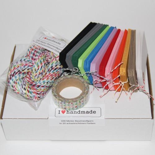 Farbsortiment Twine, Paketanhänger, Tape