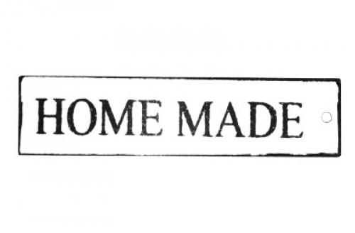 """kleines Metallschild """"Homemade"""" länglich"""