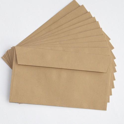 kleine vintage Briefumschläge aus braunem Kraftpapier 10 Stk