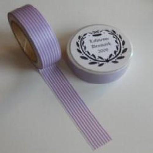 Washi Masking Tape lila weiss Stripes