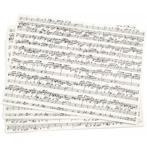 10 Blatt Notenpapier A4