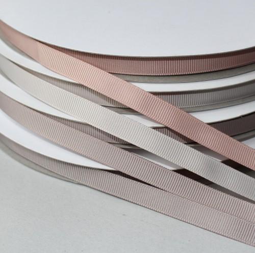 Ripsband HELLGRAU puderfarben 9mm