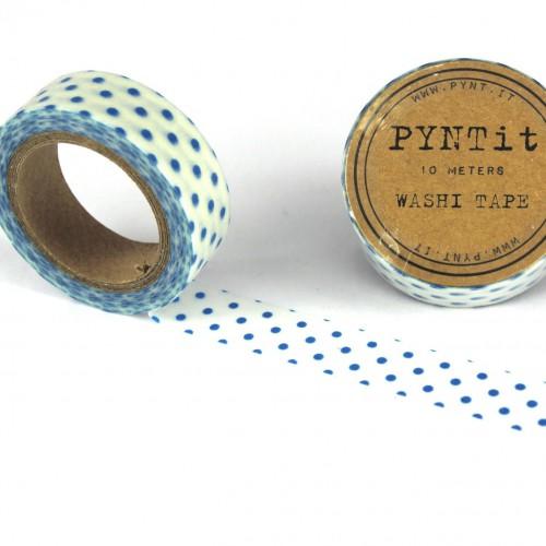 Masking Washi Tape - weiss mit hellblauen Punkten