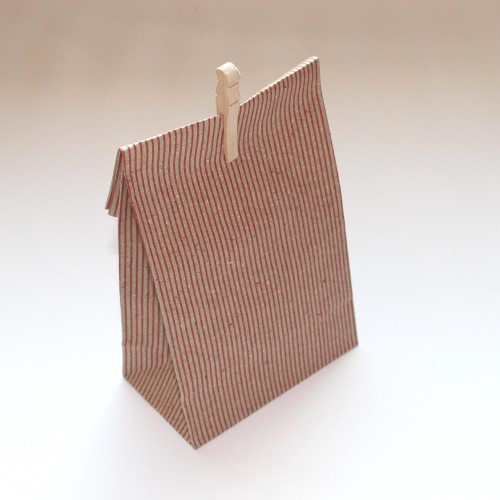 Papierbeutel Streifen Kraft 5 Stk gross