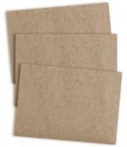 10 Karten A6 Kraftpapier braun
