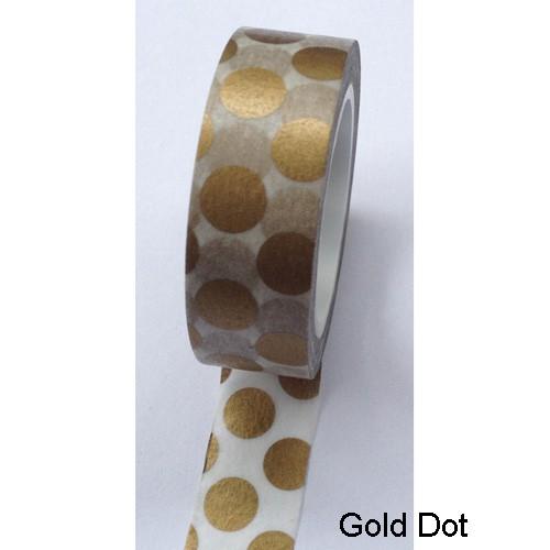 Masking Tape DOTS Punkte matt gold