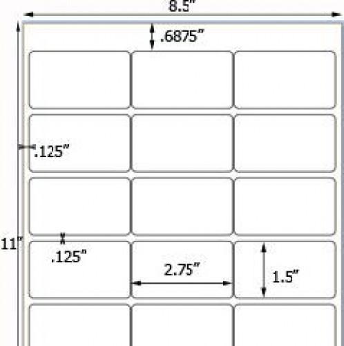 Bogen Kraftpapier braun Label 18Stk rechteckig