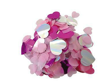 Konfetti Hearts rosa pink Herzmix