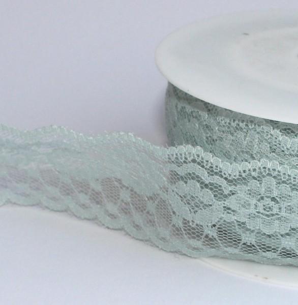 mint aqua Spitze 37mm Polyester