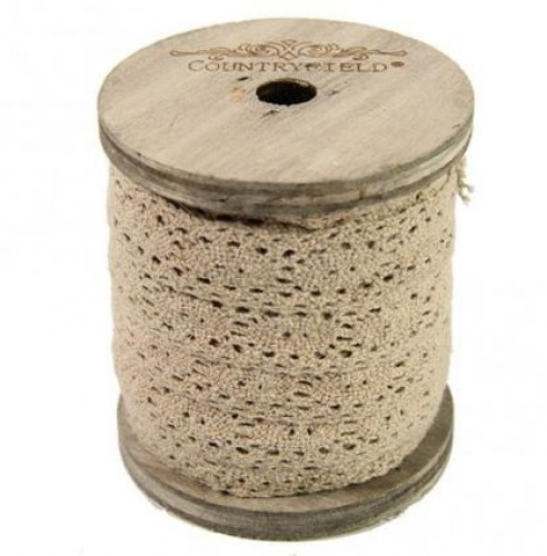 Rolle Spitzenband 3m TAUPE 2cm