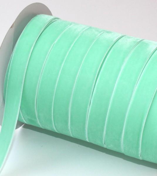jade grünes Samtband 15mm