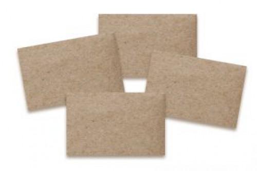 10 Visitenkarten Kraftpapier braun 55x85mm