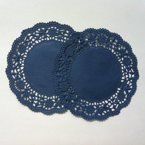 20 Stk Doilies blau Tortenspitzen 10cm