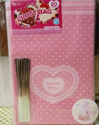 nostalgische Geschenktüten Folie rosa Herzchen
