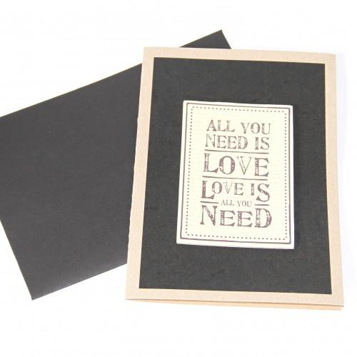 Grusskarte 'All you need is love....'