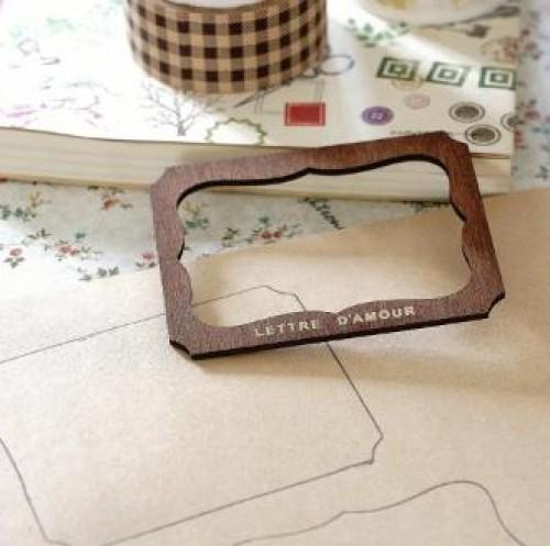 kleine Holzschablone für Label Etiketten A
